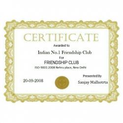 Indian no.1 friendship club